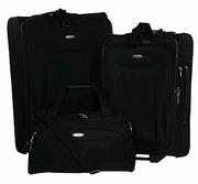 Samsonite - Portico 3-Piece Luggage Set (Black) - Bags and Luggage